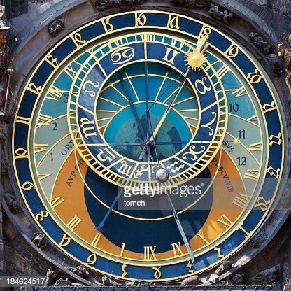 Close up of the Prague Astronomical clock