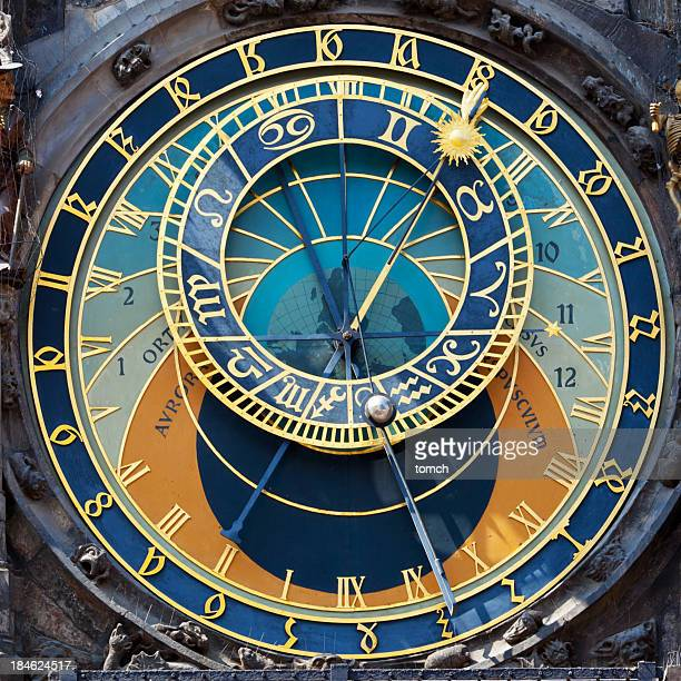 Close up of the Prague Astronomical clock