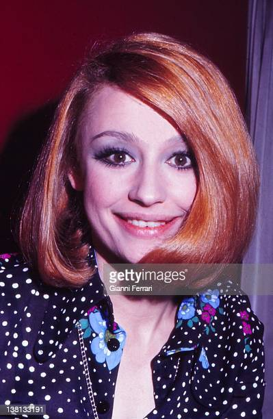 Close up of the presenter of television and Italian singer Raffaella Carra 13rd August 1979 Madrid Spain