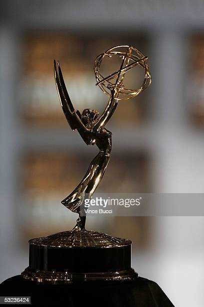 A close up of the statuette is seend during the announcement of the nominees for the 57th Annual Primetime Emmy Awards at The Academy of Television...