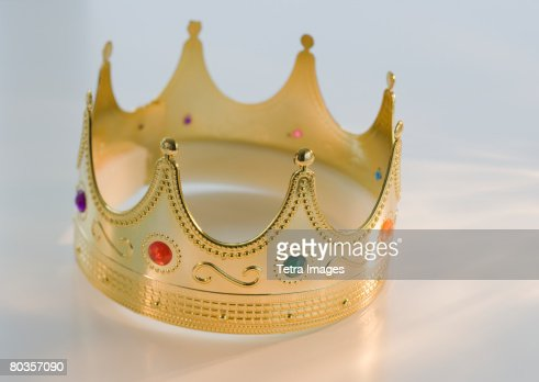 Close up of toy crown