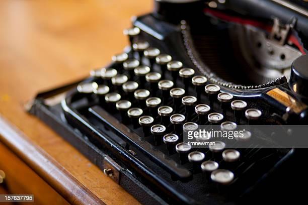 タイプライターのクローズアップ