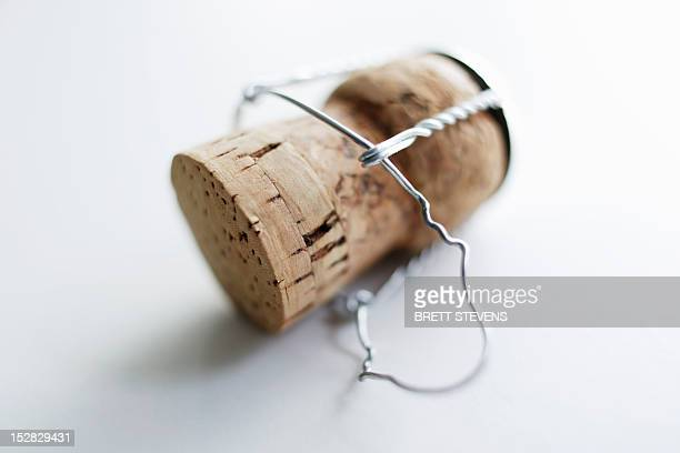 Close up of unscrewed champagne cork