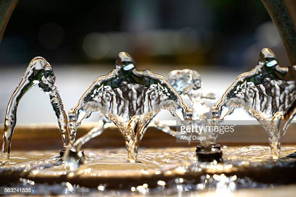 Close up of water forms