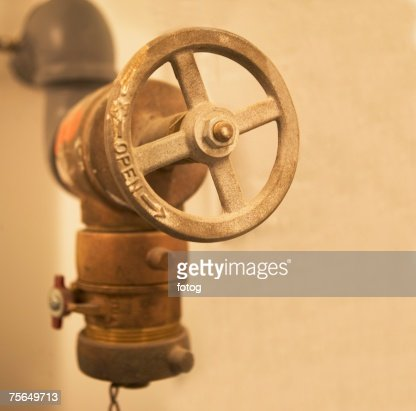 Close up of water valve