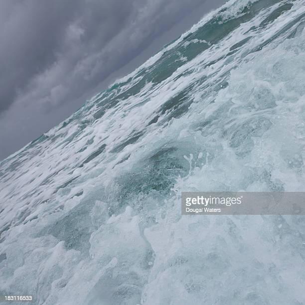 Close up of wave crashing