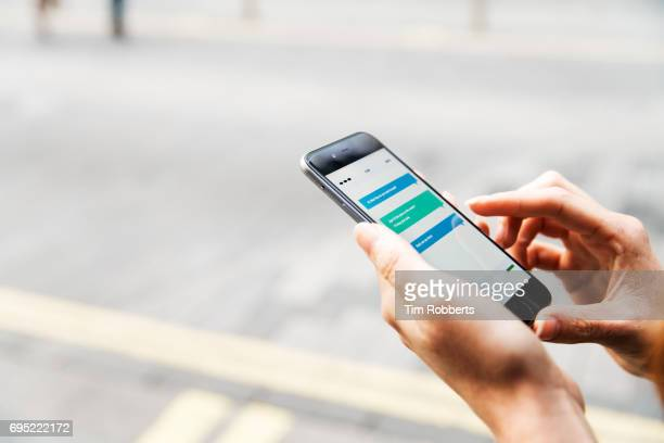 Close up of woman using mobile