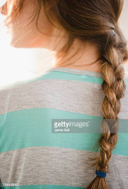 Close up of woman's braid