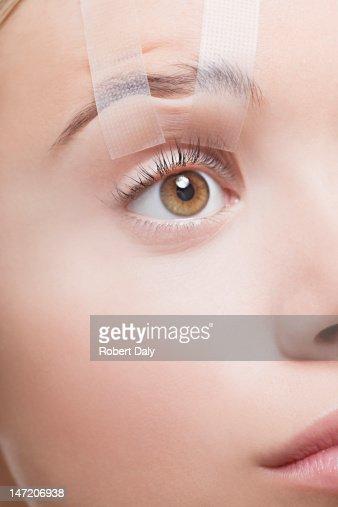 Close up of woman's eye en derivación abierto : Foto de stock