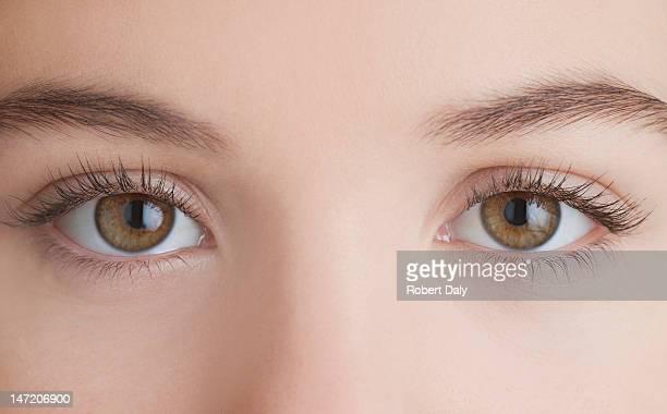 Nahaufnahme des weiblichen Augen