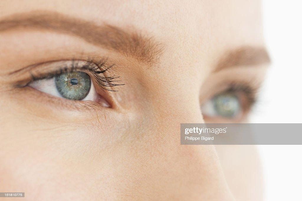 Close up of womans eyes : Stock Photo