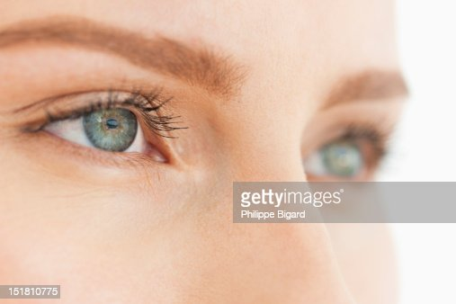Close up of womans eyes