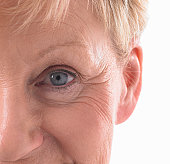 Close up of womans face.