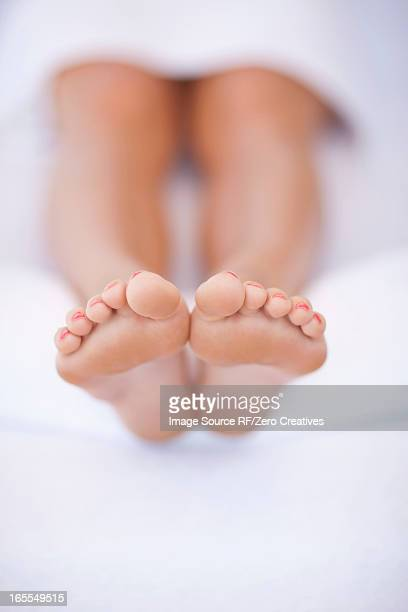 Close up of woman's feet