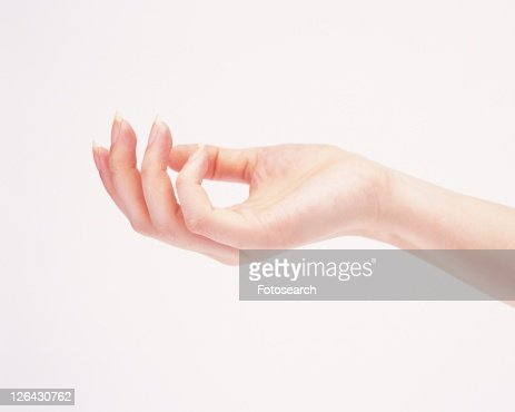 Close up of woman's hand