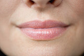 Close up of woman's lips, cropped