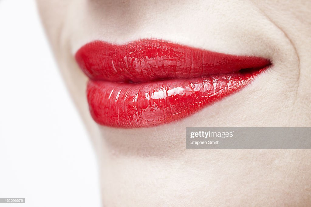 close up of womans lips : Stock Photo