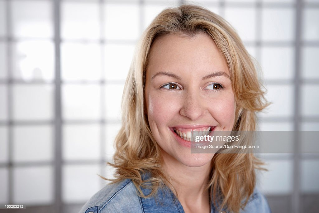 Close up of woman's smiling face : Stock Photo