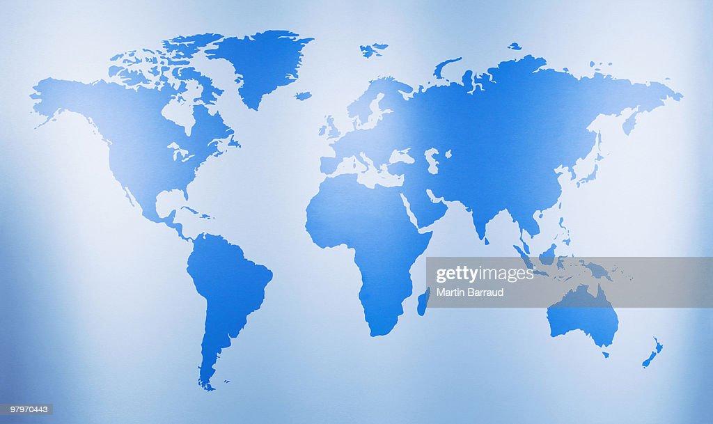Close up of world map : Stock Photo