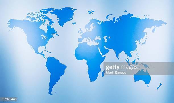Close up of world map