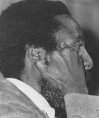 Close up of writer and social activist Dick Gregory 1960