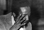 Close up of writer and social activist Dick Gregory 1972
