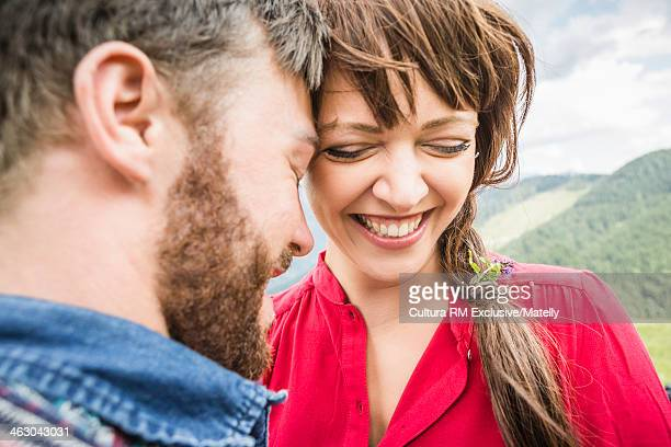 Close up of young couple, Tyrol, Austria