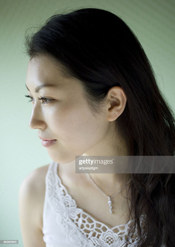 Close up of young woman
