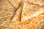 Close up on a stack of crepes (french pancakes)