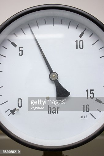 Close up photo of manometer front : Stock Photo