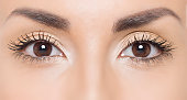 Close up photo of woman eyes