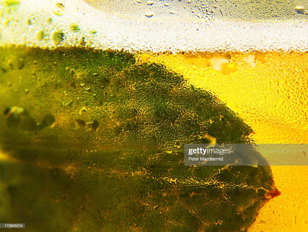 A close up photograph shows a mint leaf in a Pimm's drink at the Wimbledon Lawn Tennis Championships on July 2, 2013 in London, England.