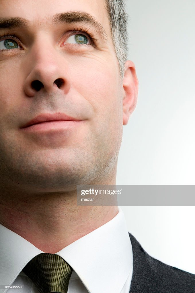 Close up portrait, dreaming of the future : Stock Photo