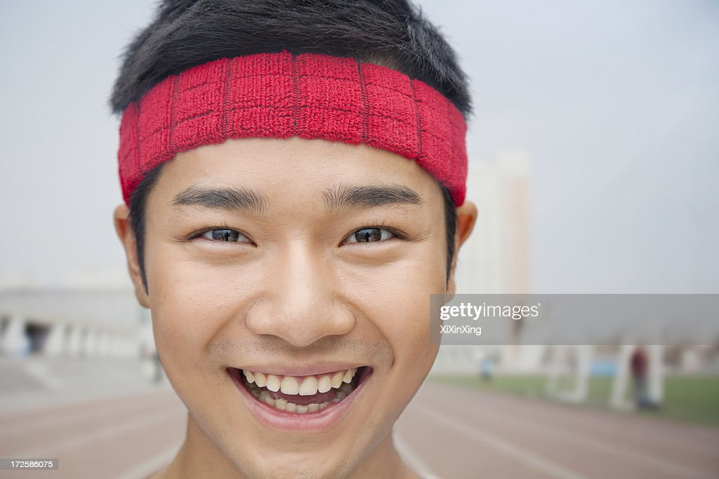 Close up portrait of athlete