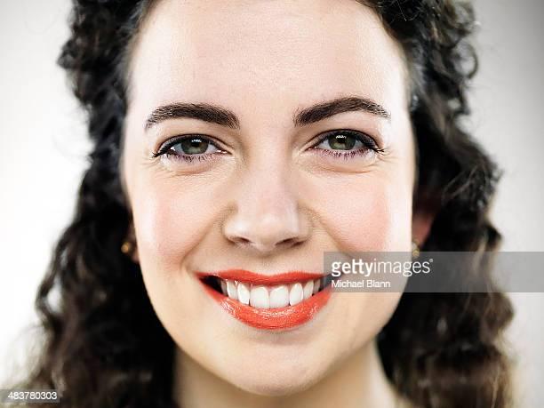 Close up portrait of confident female