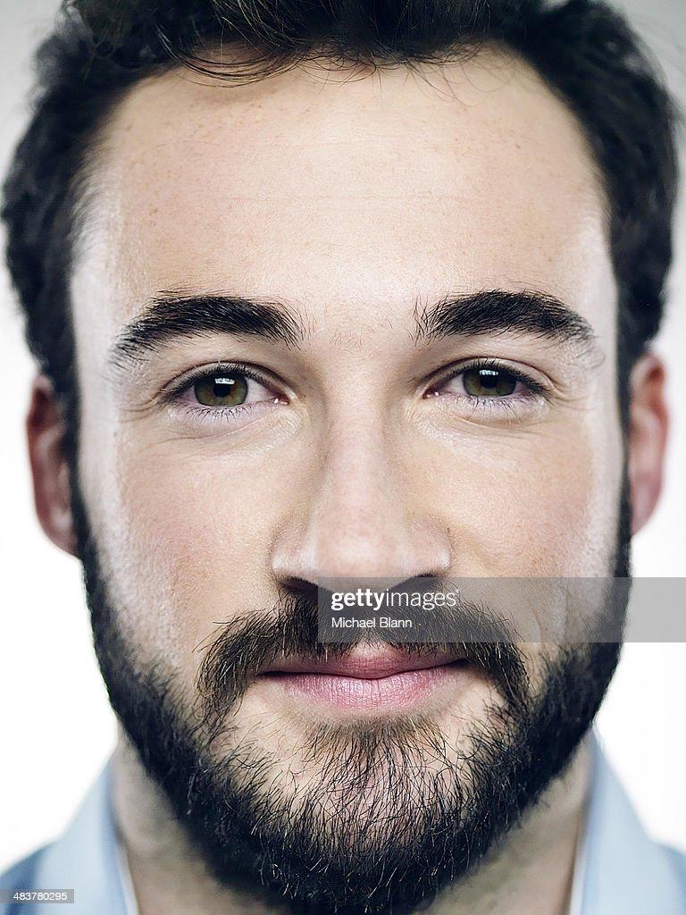 Close up portrait of confident man : Stock Photo