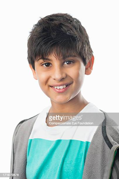 Close up portrait of smiling boy (10-12)