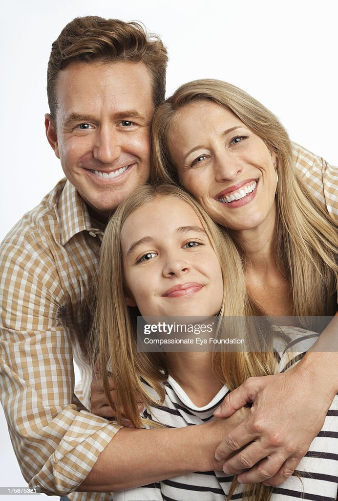Close up portrait of smiling family : Stock Photo