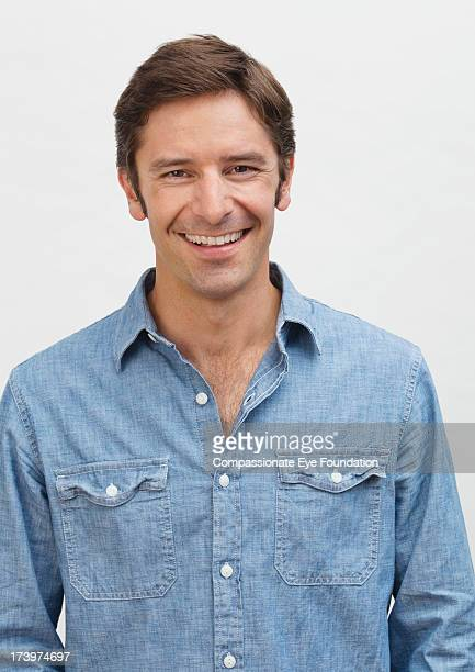 Close up portrait of smiling man