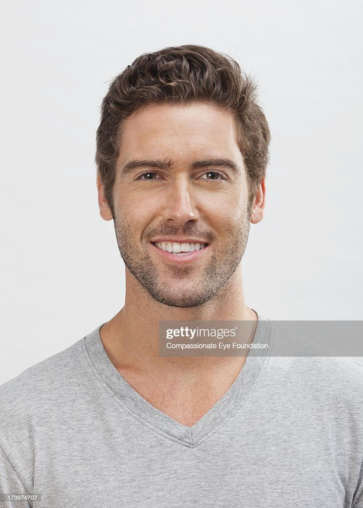 Close up portrait of smiling man : Stock Photo