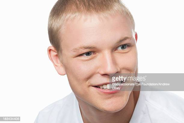 Close up portrait of smiling man