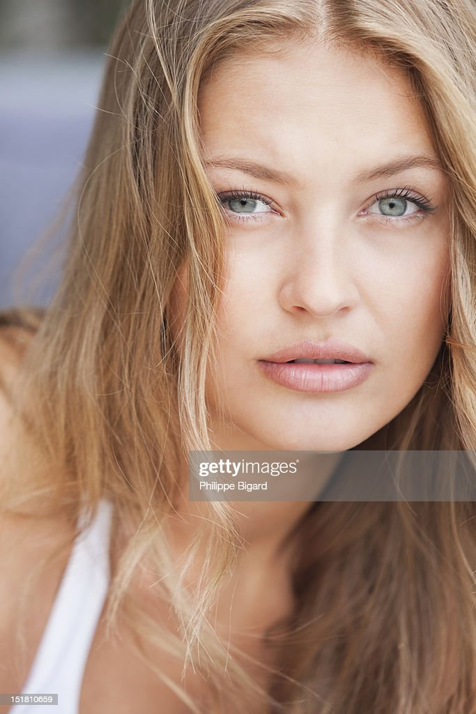 Close up portrait of woman : Stock Photo