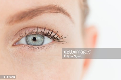 Close up portrait of womans eye
