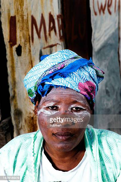 Close Up Portrait of Xhosa Woman, Transkei, South Africa