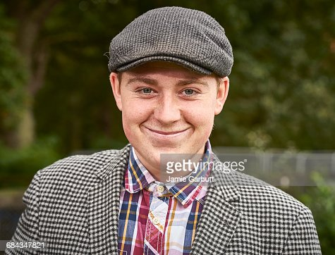 Close up portrait of young British Farmer smiling