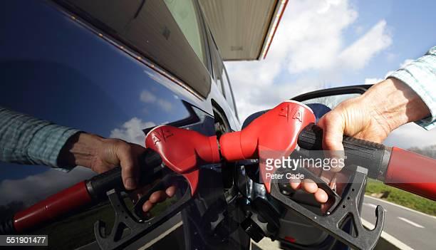 close up ,  refuelling car .