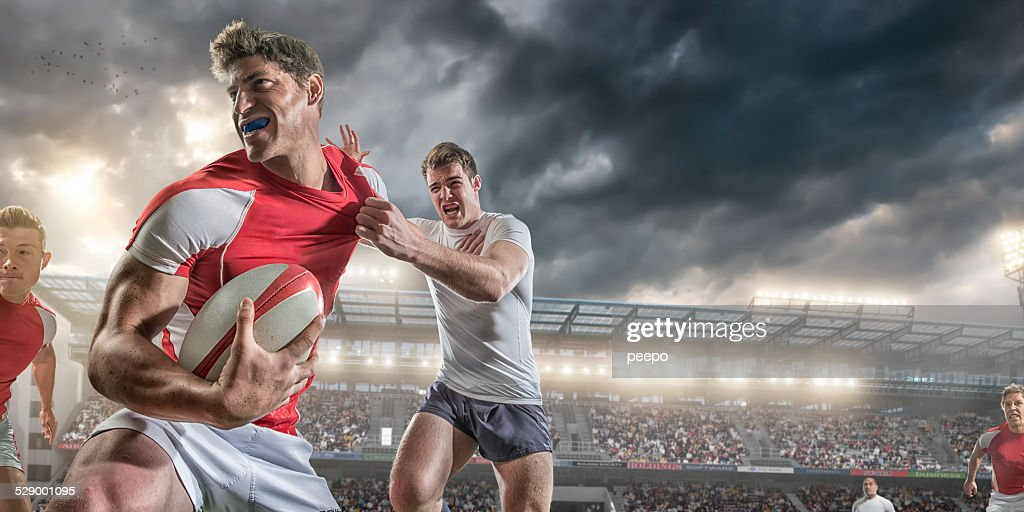 Close up Rugby Action