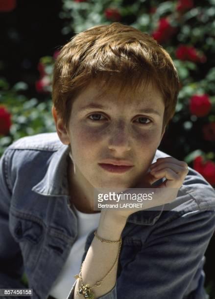 Close up Sandrine Kimberlain actrice francaise en juin 1993 en France