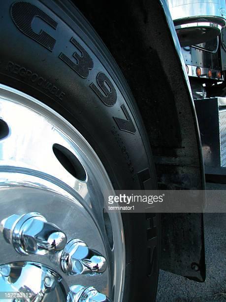 close up semi wheel