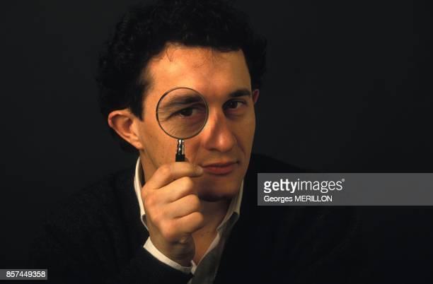 Close up Serge Faubert auteur du livre 'Une secte au coeur de la Republique' un enquete sur la Scientologie le 1 mars 1993 a Paris France